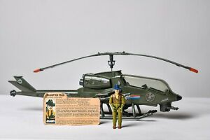 Vintage GI JOE - VEHICLE -1983 Dragonfly w/ Pilot Wild Bill - 100% Complete