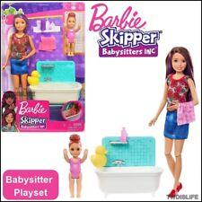 Barbie Skipper & Chelsea Babysitters Inc Playset 2 Dolls Bath Time Accessories