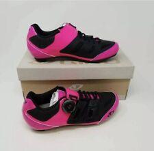 Giro Womens Raes Techlace Cycling Shoes Pink Black Adjustable Hook Loop US-W 8