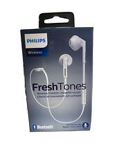 Philips SHB5250 FreshTones In-Ear Bluetooth Headphones White