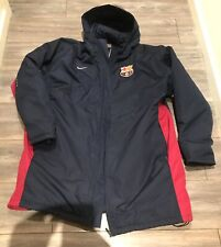 Brand New Nike Fleece Lined Barcelona Manager Coat Size XL From Mid 2000s