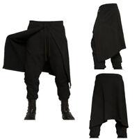 Punk Men Gothic Medieval Loose Costume Pants Renaissance Dance Hip Hop Trousers