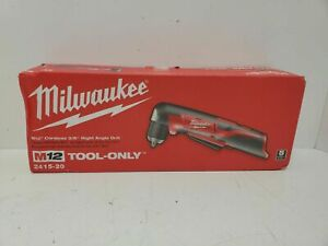 """~Milwaukee 2415-21 M12 3/8"""" 12-Volt Lithium-Ion Cordless Right-Angle Drill~"""