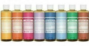 Dr Bronner's 18-In-1 Hemp Pure Castile Liquid Soaps with Organic Oils 8 Fl Oz