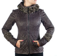 Rina' Couture Italian Leather Jacket Karakulcha  Size S,M$$$$  New Brown
