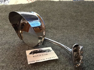 NEW SINGLE VINTAGE STYLE 4 INCH ROUND MIRROR WITH A MIRROR VISOR ON IT !