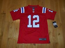 NWT Nike TOM BRADY Red NEW ENGLAND PATRIOTS Youth NFL Replica Jersey SZ MD