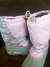 WOMENS  GIRLS SOREL RAIN SNOW BOOTS SIZE 6 PINK AND PURPLE GREY  SNOWBOARDING