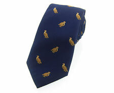 Soprano Blue Silk Country Tie with Standing Partridge design game shooting VP90