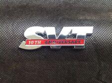 2003 FORD MUSTANG SVT COBRA 10TH ANNIVERSARY TRUNK DECKLID EMBLEM -- NEW OEM NOS