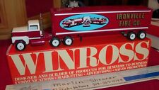 IRONVILLE FIRE CO. TRACTOR & TRAILER WINROSS TRUCK