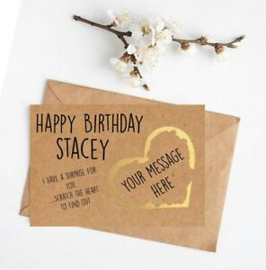 Personalised Card Surprise Birthday Anniversary Concert Holiday Festival Cinema