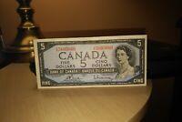1954 $5 Dollar Bank of Canada Banknote UX5605660 Crisp