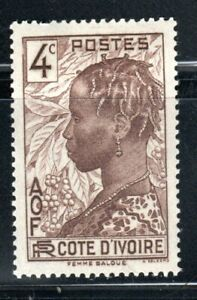 FRANCE COLONIES IVORY COAST  EUROPE AFRICA  STAMPS MINT HINGED LOT 45620