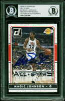 Lakers Magic Johnson Authentic Signed 2016 Donruss All Stars #3 Card BAS Slabbed