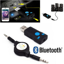 Auto USB Bluetooth 3.0 Receiver Music Audio Dongle+ 3.5mm AUX to USB Adapter