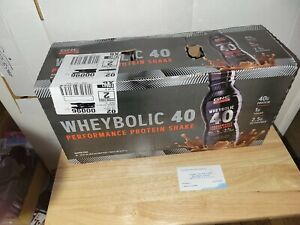 (12) GNC Amplified Wheybolic Performance 40 Protein Shake Chocolate 12- 14FL oz