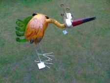 oiseau en fer forgé avec tête ressort ,bouge tous seul avec le vent  ! girouette