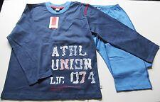 Schlafanzug Gr.128 Kanz NEU m.E blau 100% Baumwolle Pyjama kinder