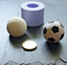3D Silikonform Fussball Ball / Fondant Schokolade Eis / Tortendekor / Seifenform