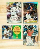 Yordan Alvarez RC lot (4) / 2020 Topps Chrome 85TC-4 Refractor, Freshman Flash