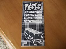 Green Line 755 bus timetable leaflet