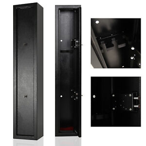 New Large 3 Gun Cabinet Rifle Shotgun Cabinet Hunting Police Safe 130x25x21cm