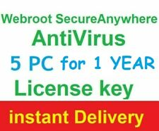 ✅ Webroot SecureAnywhere AntiVirus License Key 5 pc - instant Delivery ✅