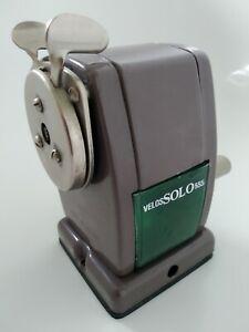 Vintage Velos SOLO 555 School/Office Pencil Sharpener in Clean Working Condition