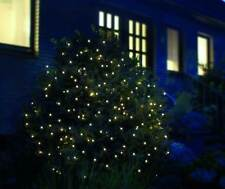 LED Lichternetz f. Außen 2x2m 160 LEDs warmweiß IP44 Kabel grün *Top*