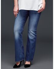 GAP Maternity Long and Lean Jeans, Medium Wash ~ Size 26 (2) NEW