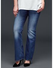 GAP Maternity Long and Lean Jeans Medium Wash Size 26 (2)