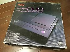 RARE BOXED NEC PC Engine DUO Console System CD rom working
