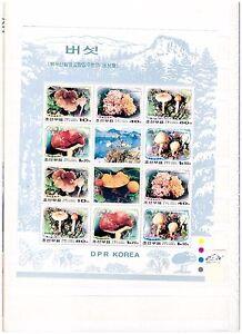 s14478) KOREA 2002 MNH** Mushrooms MS FOLDED Horizhontaly