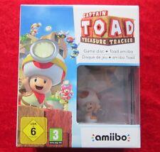 Captain Toad Treasure Tracker + Amiibo Figur Nintendo WiiU Spiel Edition Neu OVP