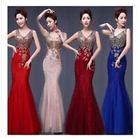 Mermaid Abendkleid Ballkleid Verlobungskleid Partykleid Spitze Kleid S-5XL BC419