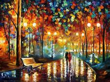 "RAIN'S RUSTLE   —  Oil Painting On Canvas By Leonid Afremov - Size:40""x30"""