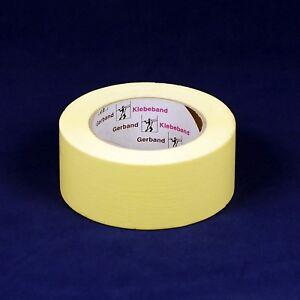 (0,07€/m) 5 Rollen Flachkrepp-Klebeband 50 mm, Gerband 132, Kreppband Malerkrepp