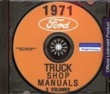 FORD 1971 Bronco, Bus, Van, F100-F350 Pick Up & Heavy Duty Truck Shop Manual CD
