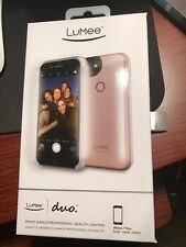 BRAND NEW! LuMee Duo - iPhone 8 PLUS - Rose Gold - Light Selfie Case -Sealed Box