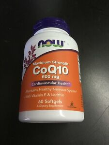 Now Maximum Strength CoQ10 600Mg 60 Softgels Exp 1/2026 #1822