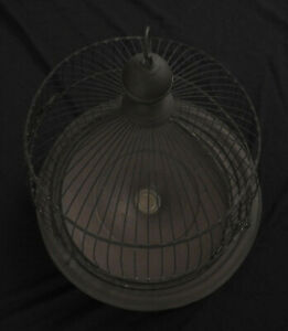 Vintage Brass Hendryx Dome Wire Bird Cage - Early 1900's