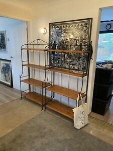 Bakers Rack shelf unit. Sturdy display unit with five strong pine shelves.