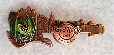 HARD ROCK CAFE KRAKOW 3D BRONZE SKYLINE GUITAR SERIES PIN # 517268