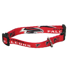 NEW! ATLANTA FALCONS DOG COLLAR ADJUSTABLE NYLON RED LICENSED CHOOSE SIZE