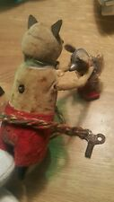 VINTAGE SCHUCO DANCING MOUSE WITH BABY MOUSE TIN TOY WIND UP GERMANY FOREIGN