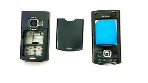 Full Housing Body Cover Casing Faceplate Fascia For Nokia N80 Slide Phone Black