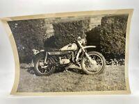 Vintage Snapshot Photo - 1975 Yamaha Motorcycle Bike