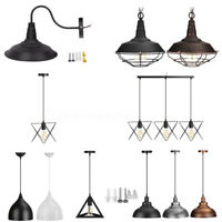 Vintage Industrial Metal Retro Ceiling Hanging Light Pendant Lamp Chandelier