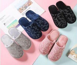 Pantofole Invernali Donna Fiori in Caldo Pelo da Camera 875